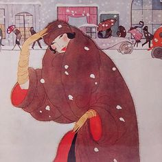 Framed Print Vogue Cover Winter Fashion 1920