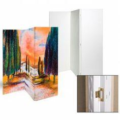 Bijzondere vormen canvas doeken geven de kunstenaar nog meer vrijheid. Dit geweldige kamerscherm heeft drie doeken van 50 x 150 cm waarmee je origineel je eigen kamerscherm kan maken.