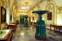 Sala de Malaquitas, Castillo de Chapultepec. Ciudad de México.