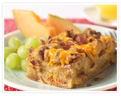 Overnight Bacon Egg Casserole. Yummy...and SUPER easy!! :)