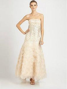 Sue Wong Strapless Ball Gown