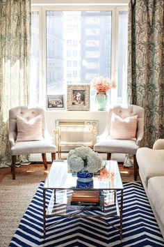 Whether it's your tiny apartment in Brooklyn or your vacation home at the Hamptons - Statement drapes are always the answer