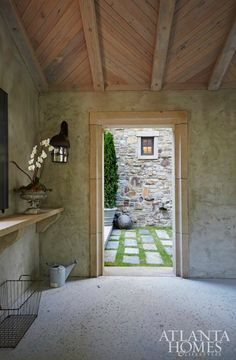 Wood Ceiling Custom built home by Francis Bryant Construction \ outdoor space, custom vaulte… Casa Patio, Timeless Kitchen, Outdoor Living, Outdoor Decor, Outdoor Spaces, Custom Built Homes, Wood Ceilings, Stone Houses, Toscana