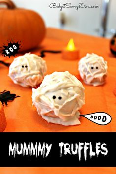 These truffles are cute and fun to make. It will be a MUST for any Halloween Celebration.