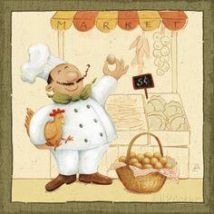 オールポスターズの ダフネ・ブリソネット「Chef's Market I」高品質プリント
