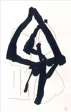 TITLE:  Beau Geste II   ARTIST: Robert Motherwell (American, 1915–1991)   WORK DATE:  1989  http://www.artnet.com/artwork/426232364/424507432/robert-motherwell-beau-geste-ii.html