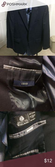 IZOD Lacoste Navy blue blazer size 38S IZOD Lacoste Navy blue blazer size 38S the original two main buttons missing Izod Suits & Blazers Sport Coats & Blazers