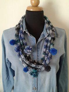 Handmade,woool scarf,elegant,casual,yarn degrade,Birthday gift, necklace,greek product,boho chic,warm scarf,
