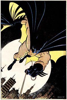 Batman Pin-Up by Mike ZeckDETECTIVE COMICS #600 (May 1989)