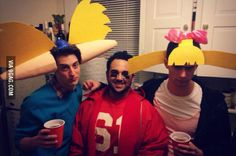 Halloween with Hey Arnold! characters. Casual.