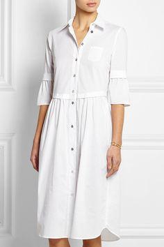 MM6 Maison Martin Margiela|Cotton-muslin shirt dress|NET-A-PORTER.COM