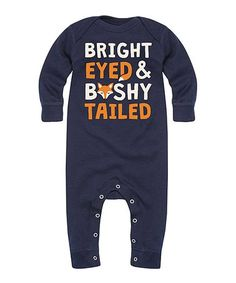 This Navy 'Bright Eyed' Playsuit - Infant is perfect! #zulilyfinds