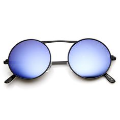 Large Retro Round Steampunk Mirror Revo Lens Sunglasses 8759
