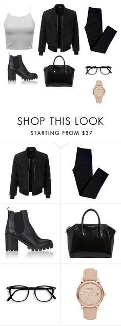 """""""Minimalist 1"""" by lainsley ❤ liked on Polyvore featuring LE3NO, J Brand, Barneys New York, Givenchy and Burberry"""