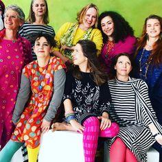Colorful Gudruns fans for spring 2018 #gudrunsworld #gudrunsjöden #colorfulwomen #gudrunfans