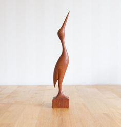 Danish Mid Century Decorative Teak Bird in a modern style