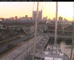 The webcam from the Greenpeace Rainbow Warrior ship. Rainbow Warrior, San Francisco Skyline, New York Skyline, Ship, Frame, Picture Frame, Ships, Frames, Hoop