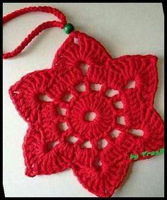 Crochet Ornament Patterns, Crochet Snowflake Pattern, Crochet Stars, Crochet Motifs, Christmas Crochet Patterns, Holiday Crochet, Crochet Snowflakes, Crochet Flowers, Crochet Christmas Decorations