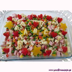 Buchstabensalat der Buchstabensalat schmeckt besonders Schulkindern beim Schulanfang oder zur Einschulung sehr gut laktosefrei