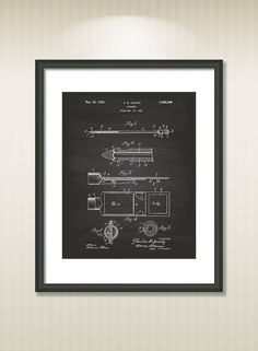 Catheter 1932 Patent Art Illustration - Drawing - Printable INSTANT DOWNLOAD - Get 5 colors background