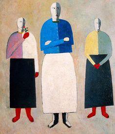 Kasimir Malevich. Three women, 1930