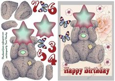 - This children's birthday card aged 3 to 7 can really be used for any age really, just add your own age, or leave it blank, i. Teddy Bear Birthday, Bear Pictures, Kids Birthday Cards, Pink Tone, Blue Tones, Card Maker, Age 3, A5, Envelope