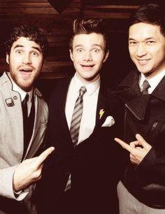 Darren Criss, Chris Colfer, and Harry Shum Jr.