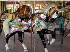 Carousel horse, part of the merry-go-round located in Holyoke, MA