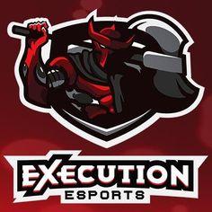 Execution eSports Logo Desing, Game Logo Design, Typography Logo, Logo Branding, Art Logo, Lettering, Fantasy Logo, Sports Decals, Logo Background