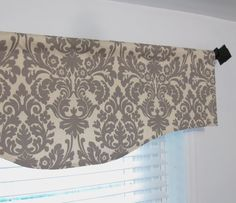 Gray Damask Window Valance Waverly Fabric by supplierofdreams, $49.00