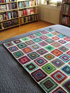 Scrappy Granny Blanket by terhimon, via Flickr