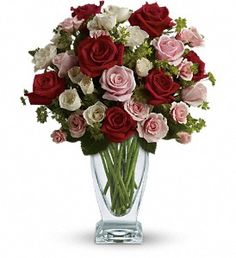 Cupid's Creation with Red Roses by Teleflora in Lake Orion MI, Amazing Petals Florist
