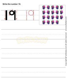Number Writing Worksheet 19 - math Worksheets - preschool Worksheets
