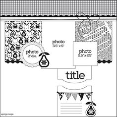 Today, I have a sketch & layout to share for this month's Pages With Papertrey Sketch. This month's sketch comes from the November . Scrapbook Layout Sketches, Scrapbook Templates, Card Sketches, Scrapbooking Layouts, Scrapbook Cards, Page Maps, Sketch Inspiration, Sketch Ideas, Picture Layouts