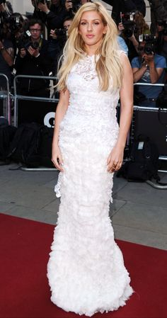 Ellie Goulding at the GQ Men of the Year Awards at the Royal Opera House in London Celebrity Photos, Celebrity Style, Gq Awards, Gq Men, Ellie Goulding, Fashion Advice, Formal Dresses, Wedding Dresses, Cool Style