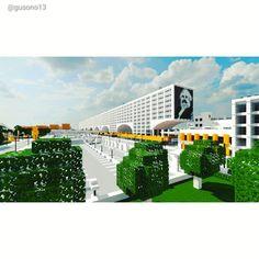 Ono City Construction Union Housing Minecraft City, Louvre, Construction, Building, Travel, Viajes, Buildings, Destinations, Traveling
