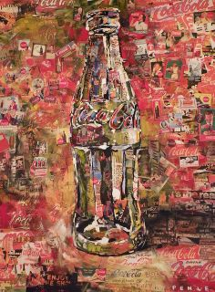 Form - three dimensional shapes. These are spheres, cylinders, cubes, pyramids. They have depth, width, and length. Steve Penley creates form with the use of Coca Cola bottles in his collages.