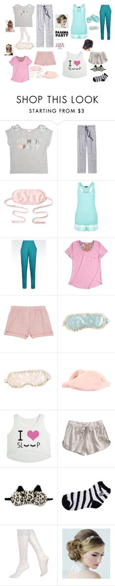 """Slumber Party"" by xxbluelovexx ❤ liked on Polyvore featuring Skylar Luna, Tommy Hilfiger, kumi kookoon, New Look, Emporio Armani, Vera Bradley, Araks, UGG Australia, Lucky Brand and P.J. Salvage"
