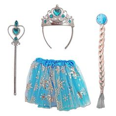 Our girls Frozen dress up set is prefect for letting your little one live out their Frozen fantasies and would be a hit at any dress up party. Suitable for ages 3 - Set includes: Tutu Plait hairpiece Crown Wand Fancy Dress Outfits, Dress Up, Frozen Tutu Dress, Peter Pan Dress, Childrens Fancy Dress, Up Game, Boho Shorts, Ballet Skirt, Costumes