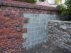 How to paint Concrete Blocks to look like a Brick Wall