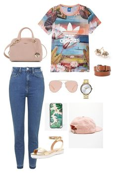 """Untitled #7"" by orianapue ❤ liked on Polyvore featuring Topshop, adidas, Elorie, Sonix, Bally, MANGO, Furla, Nixon and Ippolita"