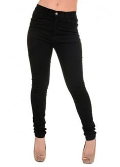 High Rise Stretch Skinny Jeans