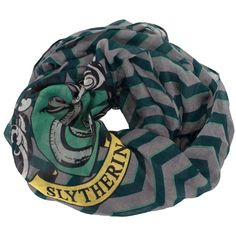 Harry Potter Harry Potter Slytherin House Infinity Scarf ($11) ❤ liked on Polyvore featuring accessories, scarves, loop scarf, tube scarf, circle scarves, wrap shawl and infinity scarf