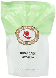 Coffee Bean Direct Decaf Dark Sumatra, Whole Bean Coffee, 16-Ounce Bags (Pack of 3) - http://teacoffeestore.com/coffee-bean-direct-decaf-dark-sumatra-whole-bean-coffee-16-ounce-bags-pack-of-3/