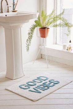 Give yourself some extra motivation with this bath mat.