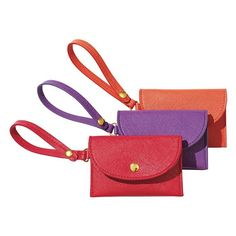 #Avon Joyful Beautiful Card Holder Bag #Charm. Store your credit cards and ID in the bold-colored holder for easy access. 3 slots with snap connector. Available in Red, Purple or Orange. Reg. $6.99. #CJTeam #Joyful #CardHolder #Beautiful #New #Fashion #BagCharms #C24 Shop Avon #Gifts online @ www.TheCJTeam.com