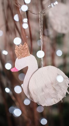 Make a cute Swan ornament or garland with this simple tutorial.