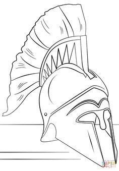 roman-helmet-coloring-page.png (824×1186)