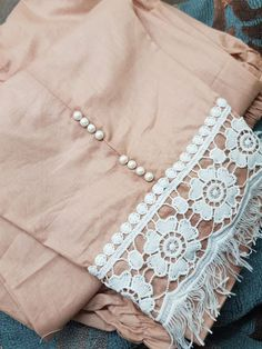 To place order DM us or whatsapp us with image on 6394837380 Kurti Sleeves Design, Kurta Neck Design, Sleeves Designs For Dresses, Dress Neck Designs, Salwar Designs, Kurta Designs Women, Kurti Designs Party Wear, Simple Pakistani Dresses, Pakistani Dress Design