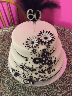 My friends beautiful 60th birthday cake!!